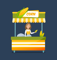 Concept of street food trading vector