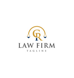 cr law logo design vector image