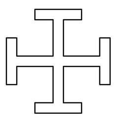 cross gibbet resembling hindhead cross monogram vector image
