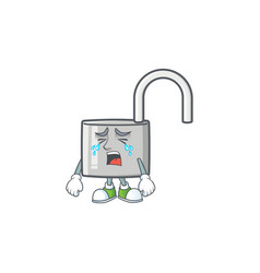 Crying silver unlock key for security private vector