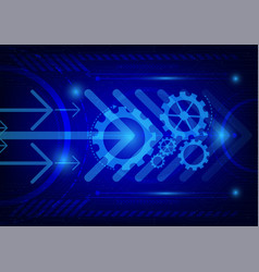 dark blue color background digital technology vector image