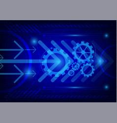 dark blue color background digital technology vector image