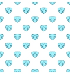 Diaper pattern cartoon style vector
