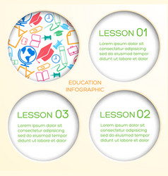 educational school infographics vector image
