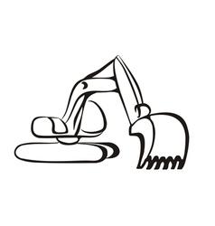 excavator symbol vector image
