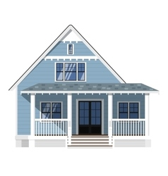 Family house isolated on white background vector image