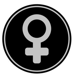 female symbol black coin vector image