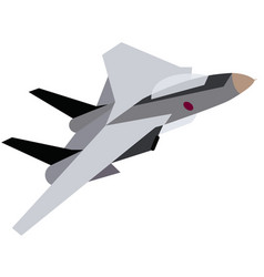 Fighter jet flat design vector