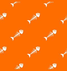 fish bone pattern seamless vector image