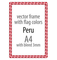 Flag v12 peru vector
