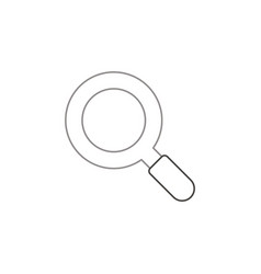 flat design style of magnifying glass or vector image