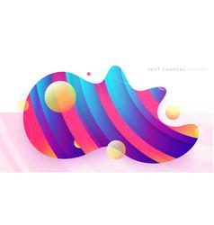 Flat liquid color abstract geometric shape fluid vector