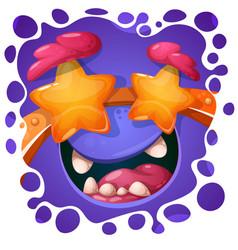Funny cute crazy monster character halloween vector