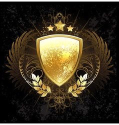 Golden Shield vector