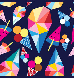Graphic pattern different ice cream vector