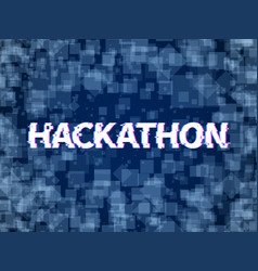 hackathon program code software marathon hack vector image