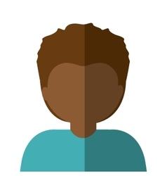 half body man brunette in gradient vector image