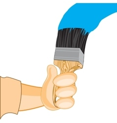Hand in hand and paint vector