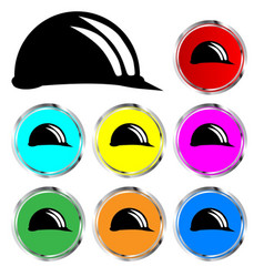 Hard hat icons vector