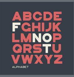 Heavy sans serif typeface design alphabet vector