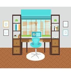 Interior office area vector