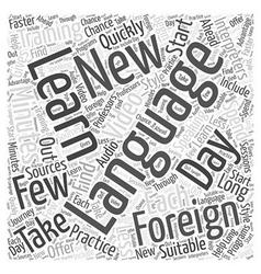Interpreters in foreign language training word vector