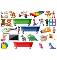 Large set of toys vector