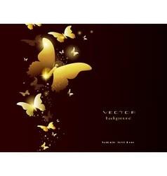 Light gold butterfly vector