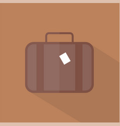 luggage icon set of great flat icons with style vector image