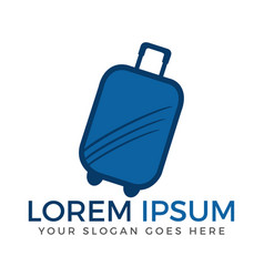 Luggage logo design vector