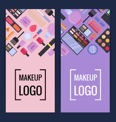 Makeup brand banners or flyers vector