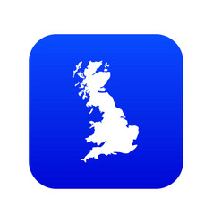map of great britain icon digital blue vector image