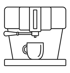 modern coffee machine icon outline style vector image