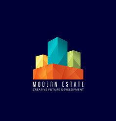 modern estate abstract sign emblem or logo vector image