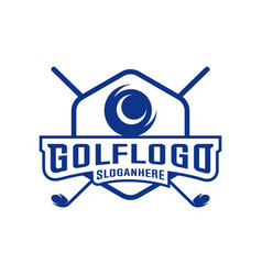 modern golf badge logo golf club logo design vector image