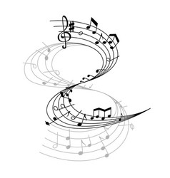 Music otes on stave vector