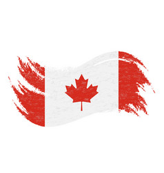 National flag of canada designed using brush vector