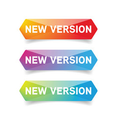 New version button set vector
