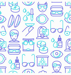 Ophthalmologist seamless pattern vector