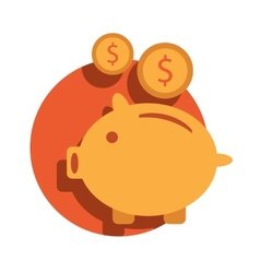 Piggy bank icon Piggy bank icon vector