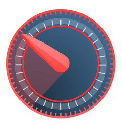 red blue speedometer icon cartoon style vector image