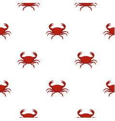 red crab pattern seamless vector image