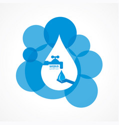 Save nature concept - world water day vector