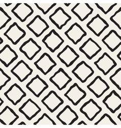 Seamless Black and White Hand Drawn Rhombus vector image