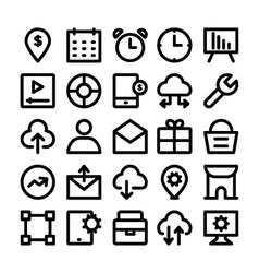 SEO and Marketing icons 8 vector
