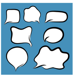 set speech bubbles in comic style talk icon vector image