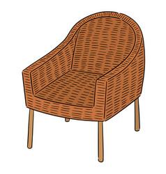 Set wicker chair vector