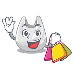 shopping plastic bag character cartoon vector image