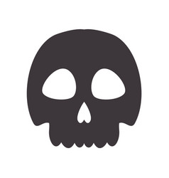 skull danger and caution alert vector image