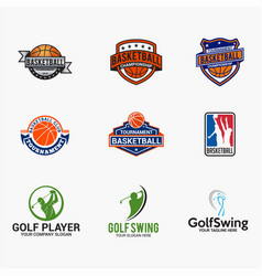 sports logo badges 5 vector image